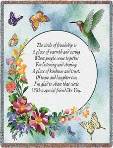 Circle Of Friendship Tapestry Throw