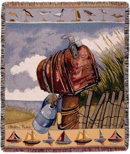 Coastal Mail Tapestry Throw
