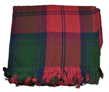 Amana Cotton Plaid Lindsay Plaid Tartan Throw Blanket