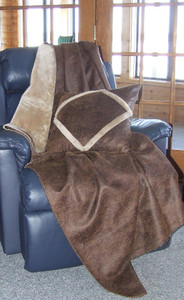 Crocodile Faux Leather Throw Blanket