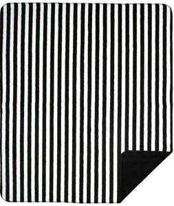 Denali Black and White Stripe/Black Pillow or Throw