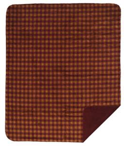 Merlot and Gold Buffalo Check/Merlot Pillow or Blanket
