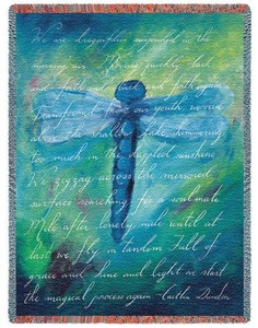 Dragonfly Poem Tapestry Throw