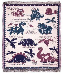 Eco2Cotton™ Dinosaur Babies 2-1/2 Layer Throw WT-5033