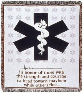 EMS Emergency Medical Services Woven Cotton throw