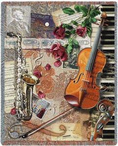 Ensemble Music Tapestry Throw