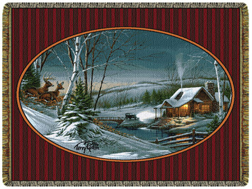 Evening With Friends Tapestry Throw by Terry Redlin
