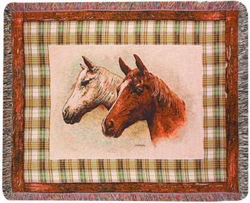 Field of Dreams Horse Tapestry Throw Blanket