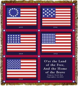 Flag History Throw MS 9097TU4