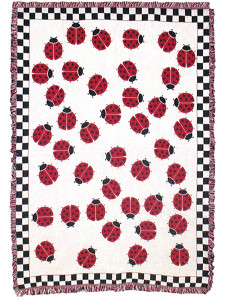 Fly Away Home Ladybug Throw 21076