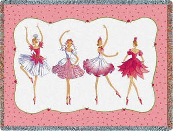 Four Ballerinas Tapestry Throw PC-5125-T