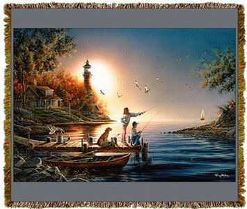From Sea To Shining Sea By Terry Redlin Tapestry Throw MS-1407TU3