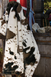 Giddy Up Faux Fur Throw