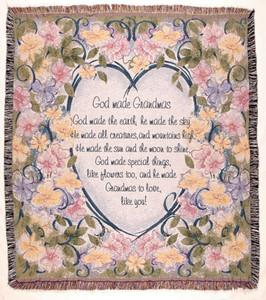 God Made Grandmas Tapestry Throw WT-TPM837