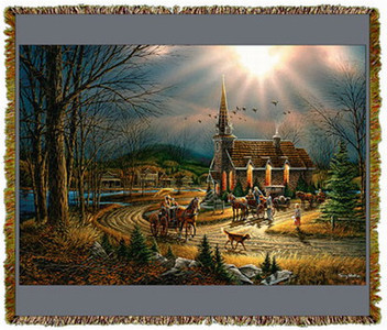 God Shed His Grace on Thee by Terry Redlin Tapestry Throw MS-1550TU3