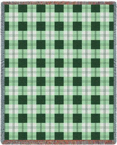 Gooseberry Plaid Tapestry Throw PC3865-T