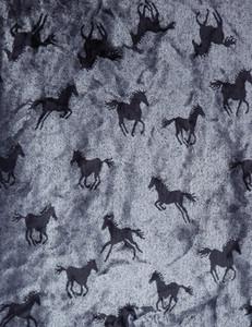 Grey Skies Pewter Horse Microplush Blanket