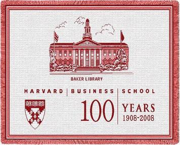 Harvard University 100 Years Stadium Throw Blanket (48x69 Inches)