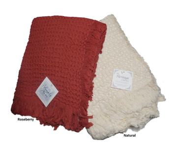 Heritage 100% Cotton Throw Blankets
