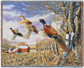High Field Flush Pheasant Tapestry Throw PC4721-T