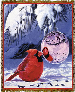 Holiday Reflections Cardinal Tapestry Throw MS-2287TU4