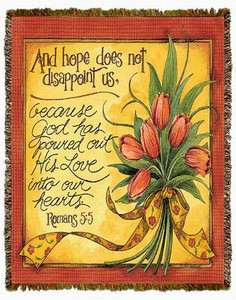 And Hope Does Not Disappoint Tapestry Throw MS-3999TU4