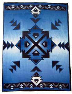 Hogan Royal Blue Polar Fleece Blanket