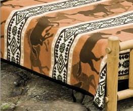 Cabin Fever Horse Fever Twin Blanket