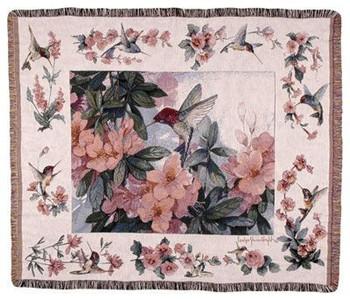 Hummingbird Garden Tapestry Throw WT-TPM780
