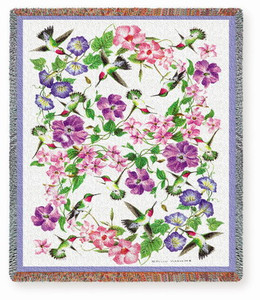 Hummingbirds Tapestry Throw With or Without Verse
