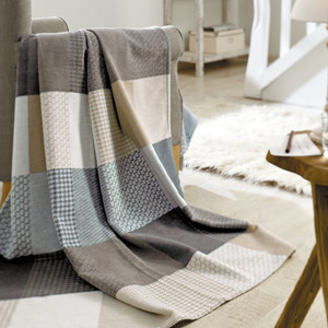 Ibena Solare Cotton Pure Patchwork Blanket