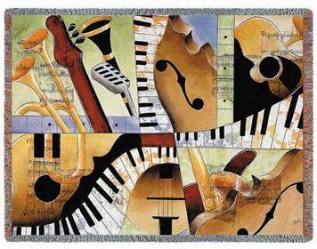 Jazz Medley Tapestry Throw PC2895-T