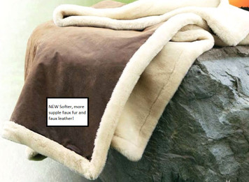 Kanata Vintage Faux Leather and Faux Fur Throw