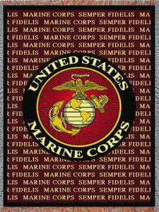 Marine Corps Semper Fidelis Tapestry Throw PC 282-A