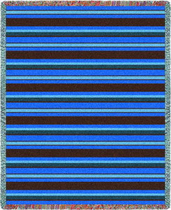 Marine Stripes Tapestry Throw PC3836-T