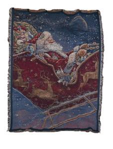 Midnight Ride Santa Tapestry Throw 6400-T
