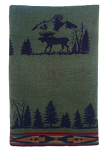 Wooded River Moose 1 Throw
