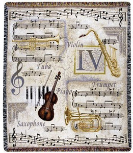 Music To My Ears Tapestry Throw Blanket or Pillow