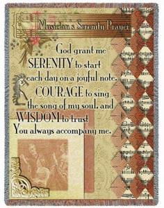 Musicians Serenity Prayer Tapestry Throw PC3173-T