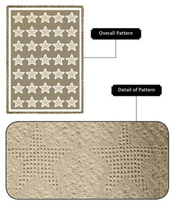 Natural Stars Woven Cotton Throw