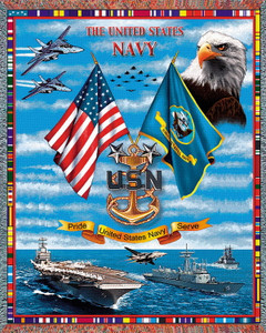 Navy Sea Power Tapestry Throw PC 1091-T