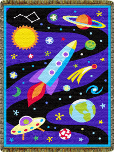 Olive Kids Out of This World Mini Tapestry Throw L60028