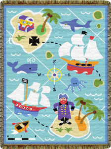 Olive Kids Pirates Mini Tapestry Throw L60023