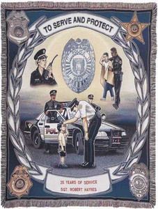Police Tapestry Throw Blanket