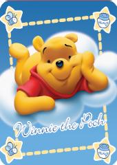 Winnie the Pooh Clouds Baby Blanket