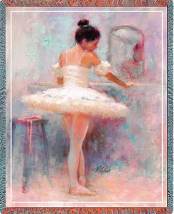 Reflection Ballerina Tapestry Throw PC-1279-T