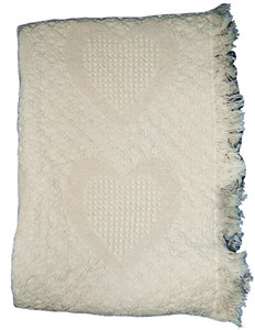 Hearts Natural Cotton Throw