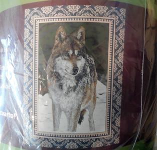 Standing Timberwolf blanket