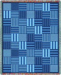 Tile Blue Tapestry Throw