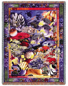 Undersea Paradise Fish Tapestry Throw